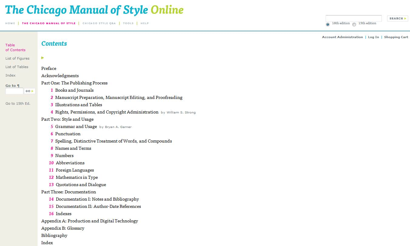 chicago manual of style download